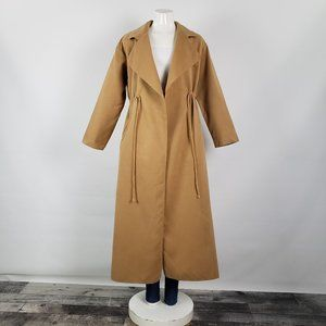 Shein Caramel Brown Long Jacket Size M
